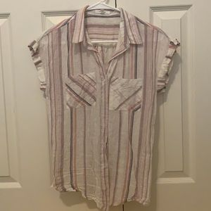 Maurice's Striped Button Down-XS